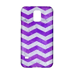 Chevron3 White Marble & Purple Watercolor Samsung Galaxy S5 Hardshell Case  by trendistuff