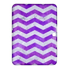 Chevron3 White Marble & Purple Watercolor Samsung Galaxy Tab 4 (10 1 ) Hardshell Case  by trendistuff