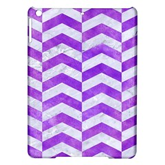 Chevron2 White Marble & Purple Watercolor Ipad Air Hardshell Cases by trendistuff