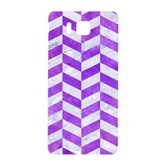 Chevron1 White Marble & Purple Watercolor Samsung Galaxy Alpha Hardshell Back Case by trendistuff