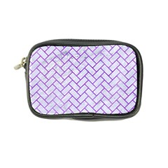 Brick2 White Marble & Purple Watercolor (r) Coin Purse by trendistuff