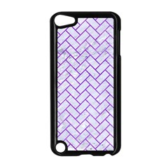 Brick2 White Marble & Purple Watercolor (r) Apple Ipod Touch 5 Case (black) by trendistuff