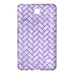 Brick2 White Marble & Purple Watercolor (r) Samsung Galaxy Tab 4 (7 ) Hardshell Case  by trendistuff