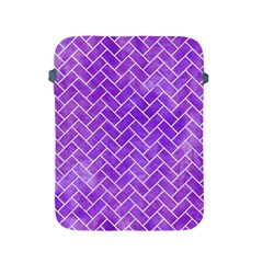 Brick2 White Marble & Purple Watercolor Apple Ipad 2/3/4 Protective Soft Cases by trendistuff