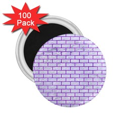 Brick1 White Marble & Purple Watercolor (r) 2 25  Magnets (100 Pack)  by trendistuff