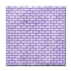 Brick1 White Marble & Purple Watercolor (r) Face Towel by trendistuff