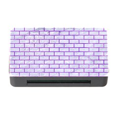 Brick1 White Marble & Purple Watercolor (r) Memory Card Reader With Cf by trendistuff