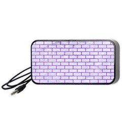 Brick1 White Marble & Purple Watercolor (r) Portable Speaker by trendistuff
