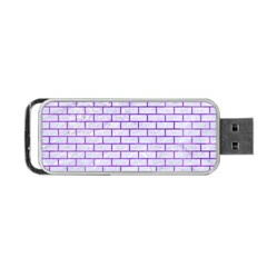 Brick1 White Marble & Purple Watercolor (r) Portable Usb Flash (one Side) by trendistuff