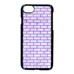 Brick1 White Marble & Purple Watercolor (r) Apple Iphone 8 Seamless Case (black) by trendistuff