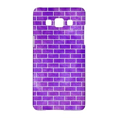 Brick1 White Marble & Purple Watercolor Samsung Galaxy A5 Hardshell Case  by trendistuff