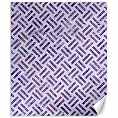 Woven2 White Marble & Purple Marble (r) Canvas 20  X 24   by trendistuff