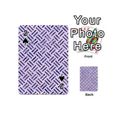 Woven2 White Marble & Purple Marble (r) Playing Cards 54 (mini)  by trendistuff