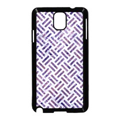 Woven2 White Marble & Purple Marble (r) Samsung Galaxy Note 3 Neo Hardshell Case (black) by trendistuff
