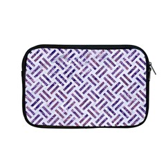 Woven2 White Marble & Purple Marble (r) Apple Macbook Pro 13  Zipper Case by trendistuff