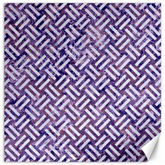 Woven2 White Marble & Purple Marble Canvas 16  X 16   by trendistuff