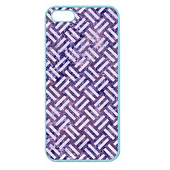 Woven2 White Marble & Purple Marble Apple Seamless Iphone 5 Case (color) by trendistuff