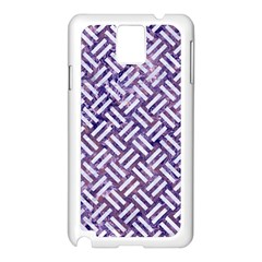 Woven2 White Marble & Purple Marble Samsung Galaxy Note 3 N9005 Case (white)