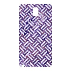 Woven2 White Marble & Purple Marble Samsung Galaxy Note 3 N9005 Hardshell Back Case by trendistuff