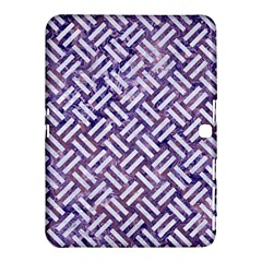 Woven2 White Marble & Purple Marble Samsung Galaxy Tab 4 (10 1 ) Hardshell Case  by trendistuff