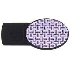 Woven1 White Marble & Purple Marble (r) Usb Flash Drive Oval (4 Gb)