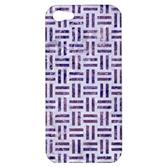 Woven1 White Marble & Purple Marble (r) Apple Iphone 5 Hardshell Case
