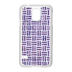 Woven1 White Marble & Purple Marble (r) Samsung Galaxy S5 Case (white) by trendistuff