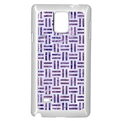 Woven1 White Marble & Purple Marble (r) Samsung Galaxy Note 4 Case (white) by trendistuff
