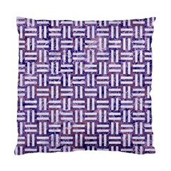 Woven1 White Marble & Purple Marble Standard Cushion Case (one Side) by trendistuff