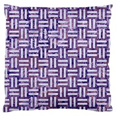 Woven1 White Marble & Purple Marble Large Cushion Case (two Sides) by trendistuff