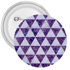 Triangle3 White Marble & Purple Marble 3  Buttons by trendistuff