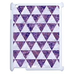 Triangle3 White Marble & Purple Marble Apple Ipad 2 Case (white) by trendistuff