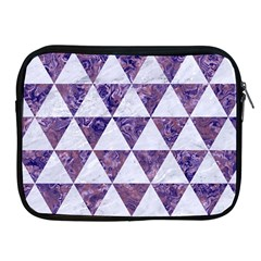 Triangle3 White Marble & Purple Marble Apple Ipad 2/3/4 Zipper Cases by trendistuff