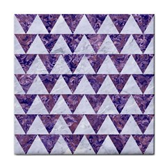 Triangle2 White Marble & Purple Marble Face Towel by trendistuff