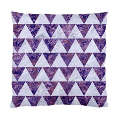 Triangle2 White Marble & Purple Marble Standard Cushion Case (two Sides) by trendistuff