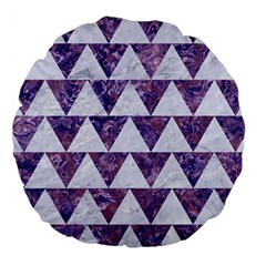 Triangle2 White Marble & Purple Marble Large 18  Premium Round Cushions by trendistuff