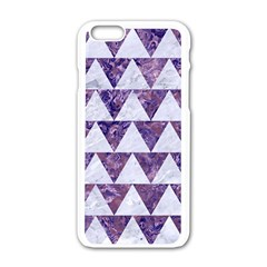 Triangle2 White Marble & Purple Marble Apple Iphone 6/6s White Enamel Case by trendistuff