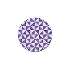 Triangle1 White Marble & Purple Marble Golf Ball Marker by trendistuff