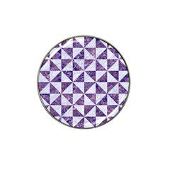 Triangle1 White Marble & Purple Marble Hat Clip Ball Marker by trendistuff