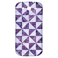 Triangle1 White Marble & Purple Marble Samsung Galaxy S3 S Iii Classic Hardshell Back Case by trendistuff