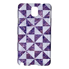 Triangle1 White Marble & Purple Marble Samsung Galaxy Note 3 N9005 Hardshell Case by trendistuff