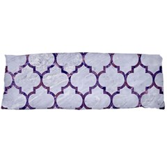 Tile1 White Marble & Purple Marble (r) Body Pillow Case Dakimakura (two Sides) by trendistuff