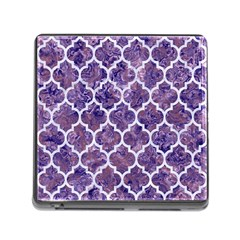 Tile1 White Marble & Purple Marble Memory Card Reader (square) by trendistuff
