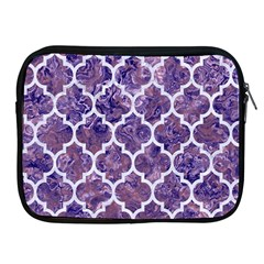 Tile1 White Marble & Purple Marble Apple Ipad 2/3/4 Zipper Cases by trendistuff
