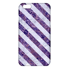 Stripes3 White Marble & Purple Marble Iphone 6 Plus/6s Plus Tpu Case