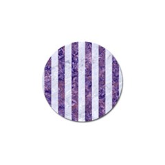Stripes1 White Marble & Purple Marble Golf Ball Marker (4 Pack) by trendistuff