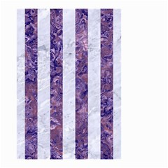 Stripes1 White Marble & Purple Marble Small Garden Flag (two Sides) by trendistuff