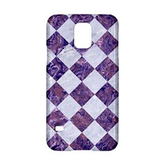 Square2 White Marble & Purple Marble Samsung Galaxy S5 Hardshell Case  by trendistuff