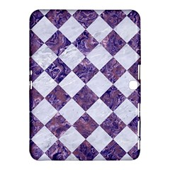 Square2 White Marble & Purple Marble Samsung Galaxy Tab 4 (10 1 ) Hardshell Case  by trendistuff