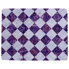 Square2 White Marble & Purple Marble Jigsaw Puzzle Photo Stand (rectangular) by trendistuff